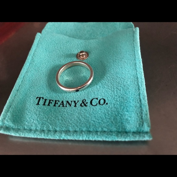 Tiffany & Co. Jewelry - Tiffany & Co. Blue Amethyst stacking rng (retired)